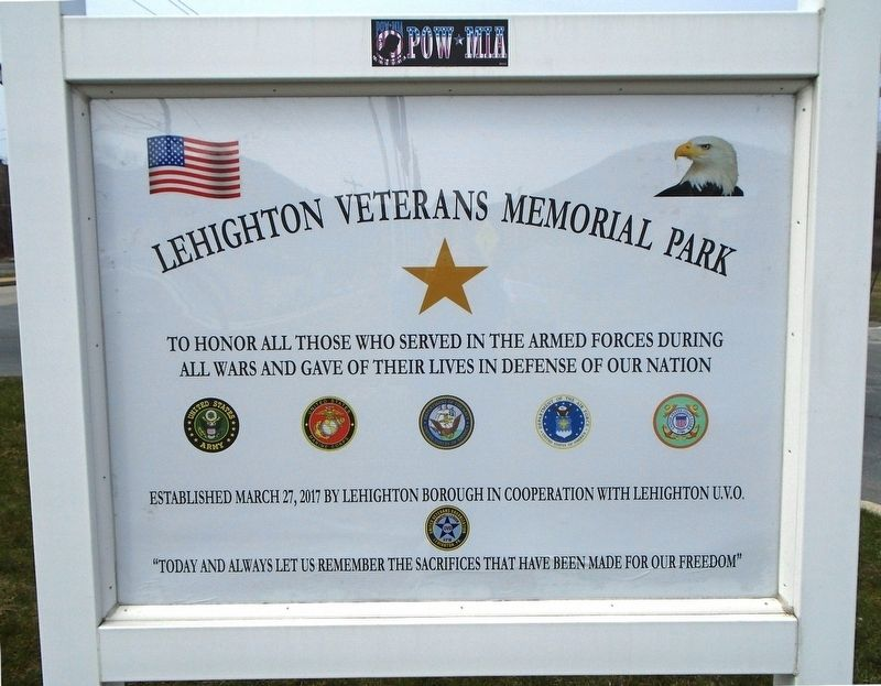Lehighton Veterans Memorial Park image. Click for full size.