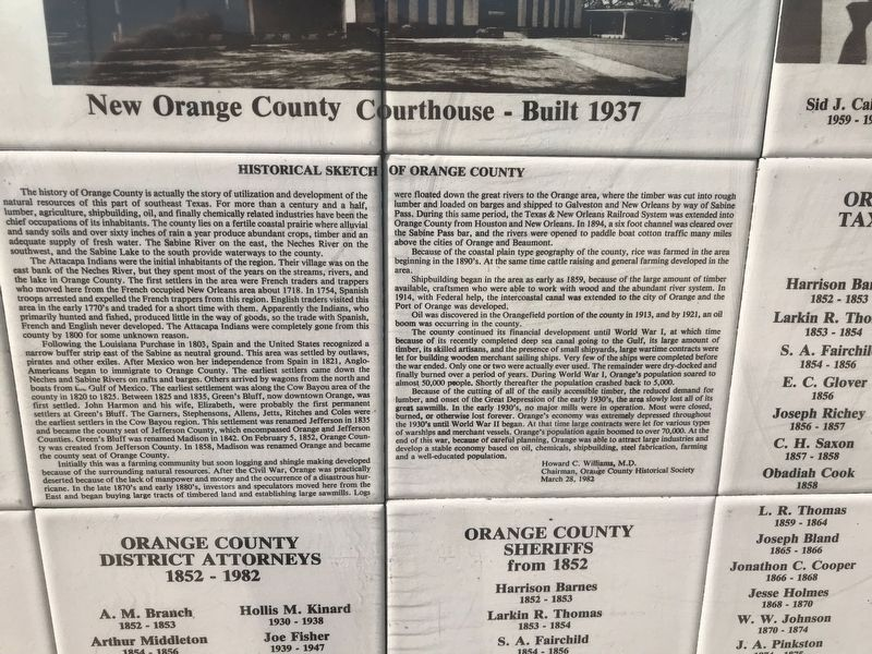 Historical Sketch of Orange County Marker image. Click for full size.