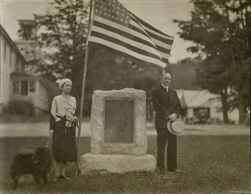 <i>Grace and Calvin Coolidge at dedication of a soldier&#39;s monument, July 4, 1931</i> image. Click for full size.