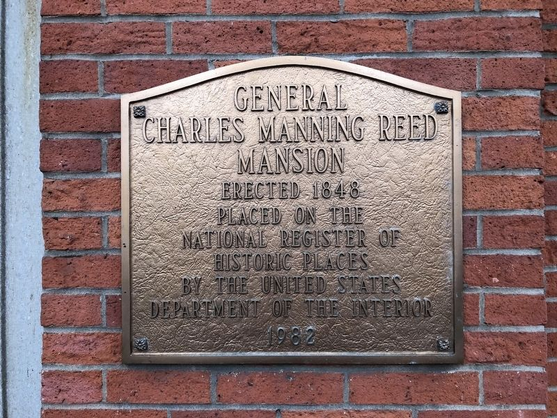 General Charles Manning Reed Mansion Marker image. Click for full size.