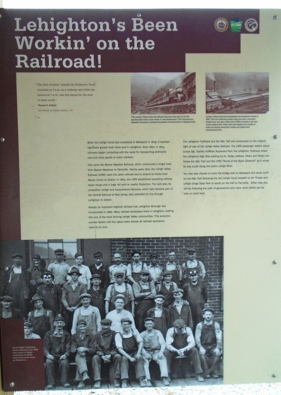 Lehighton's Been Workin' on the Railroad! Marker image. Click for full size.