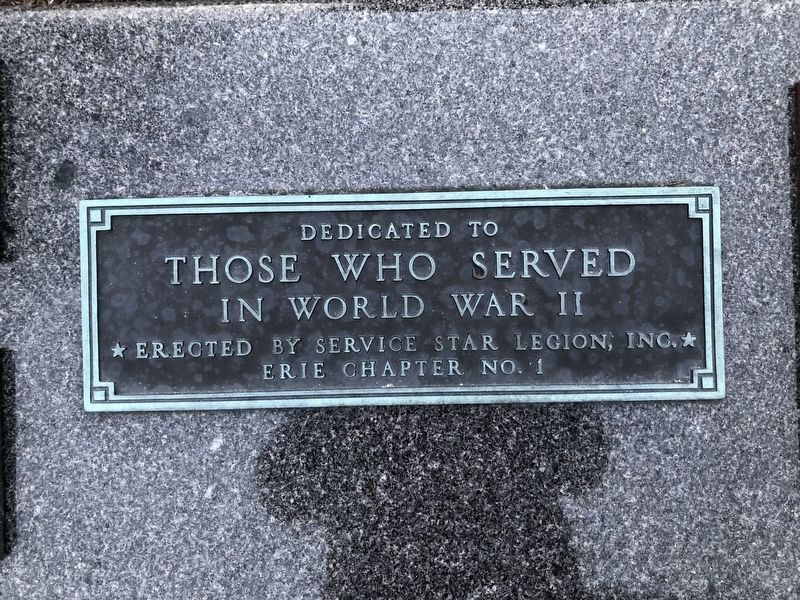 Dedicated to Those Who Served in World War II Marker image. Click for full size.