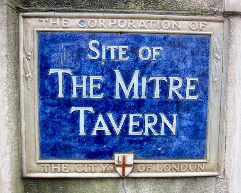 Mitre Tavern Marker image. Click for full size.