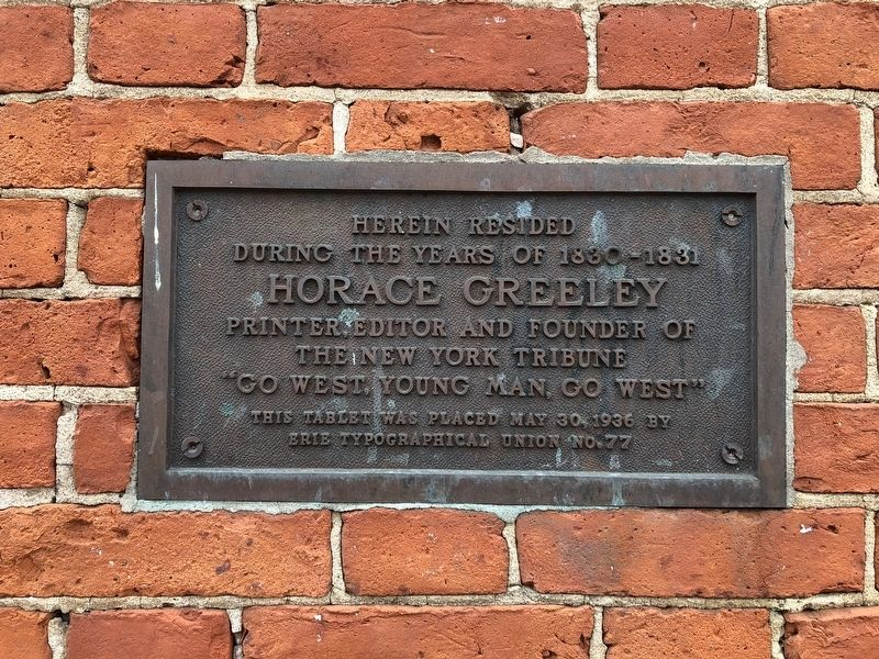 Horace Greeley Marker image. Click for full size.