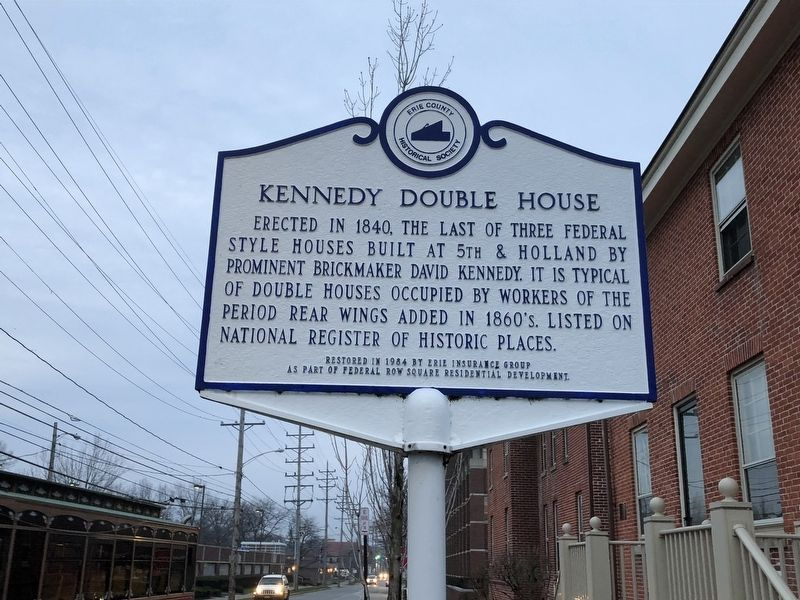 Kennedy Double House Marker image. Click for full size.