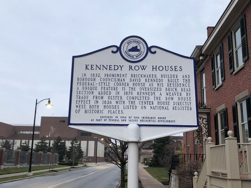 Kennedy Row Houses Marker image. Click for full size.