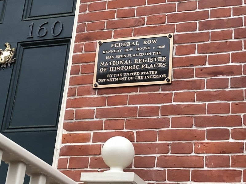 National Register of Historic Places plaque by other house image. Click for full size.