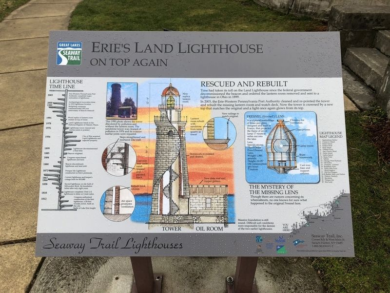 Erie's Land Lighthouse Marker image. Click for full size.