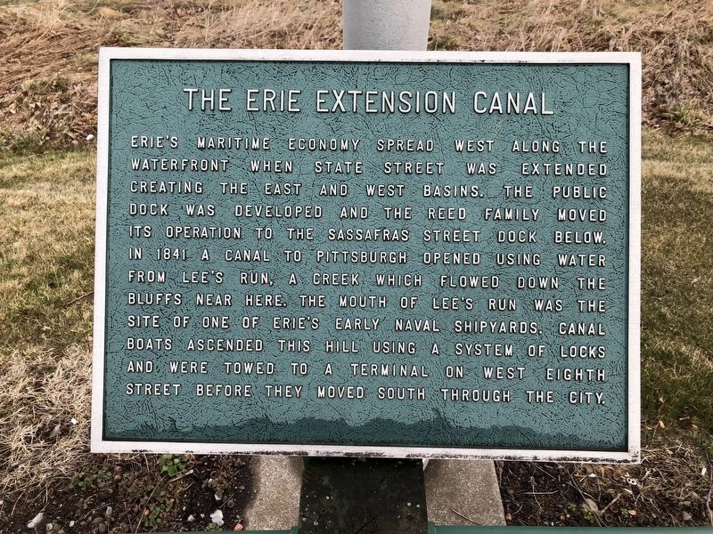 The Erie Extension Canal Marker image. Click for full size.