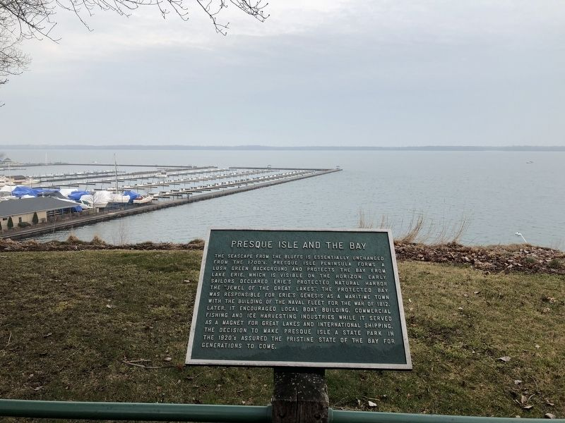 Presque Isle and the Bay Marker image. Click for full size.
