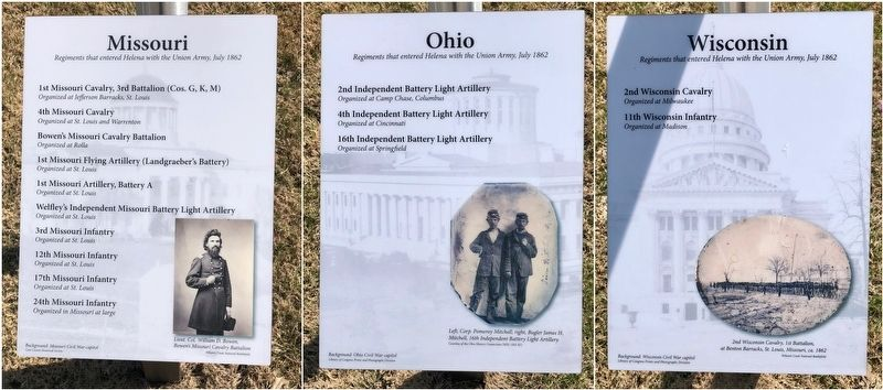 The Union Army Marches Into Helena Marker image. Click for full size.