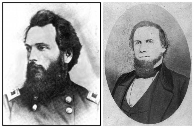 Union Brigadier General Charles Edward Hovey / Confederate Brigadier General Albert Rust image. Click for full size.