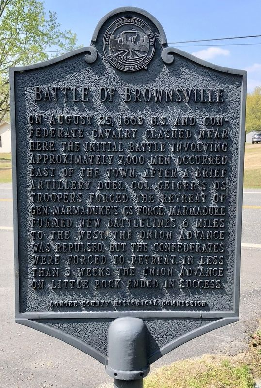 Battle of Brownsville Marker image. Click for full size.