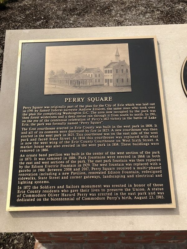 Perry Square Marker image. Click for full size.