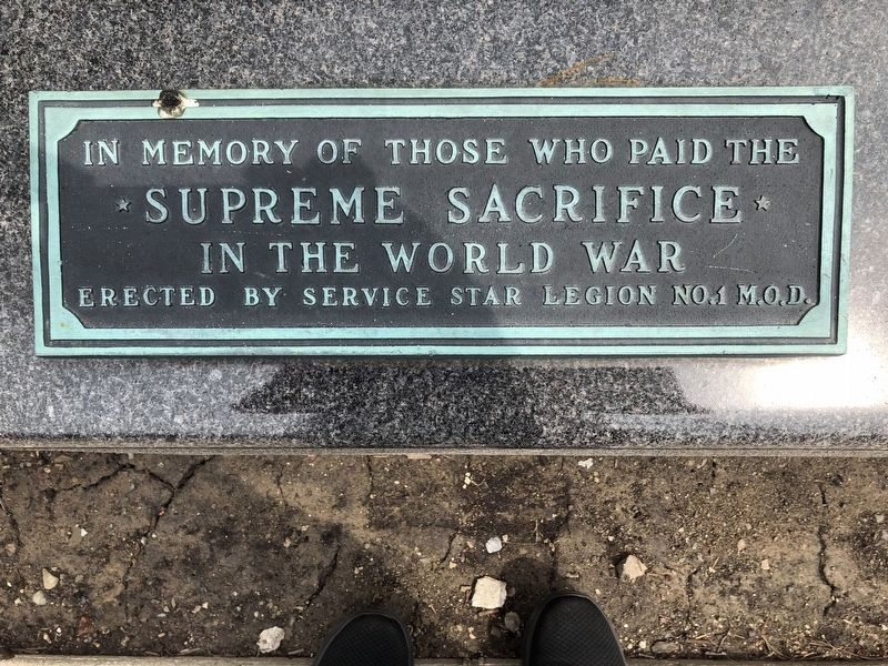 In Memory of Those Who Paid the Supreme Sacrifice in the World War Marker image. Click for full size.