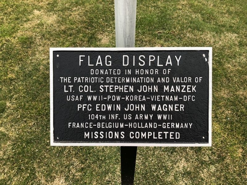 Flag Display Marker image. Click for full size.