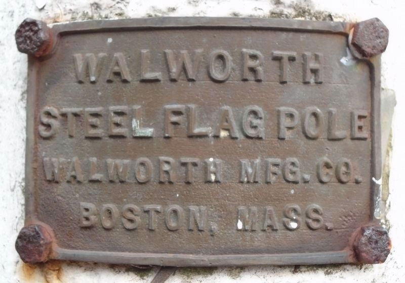 War Hero Memorial Pinery Flag Pole Manufacturer Marker image. Click for full size.