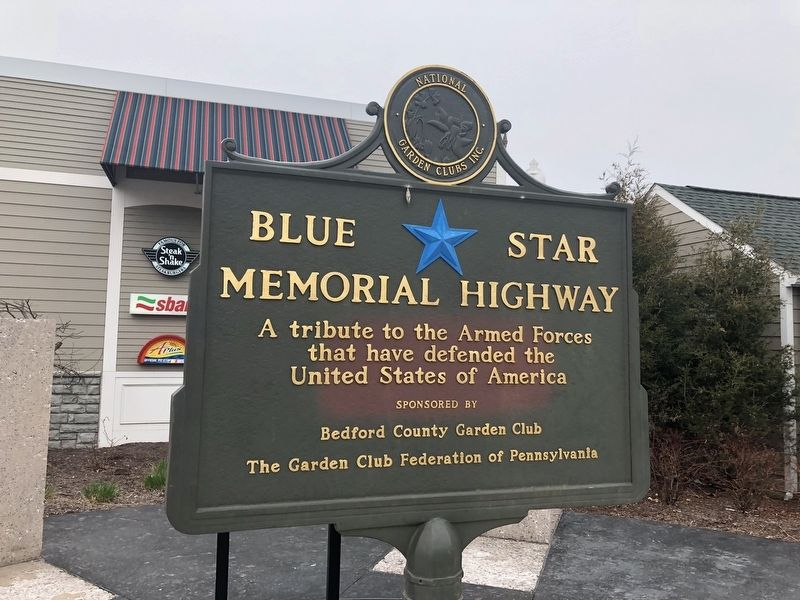 Blue Star Memorial Highway sign nearby image. Click for full size.