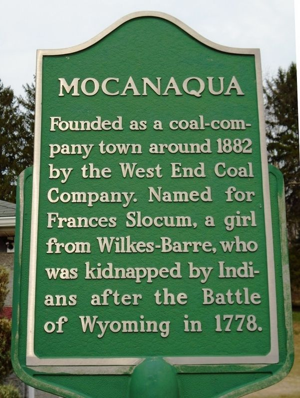 Mocanaqua Marker image. Click for full size.