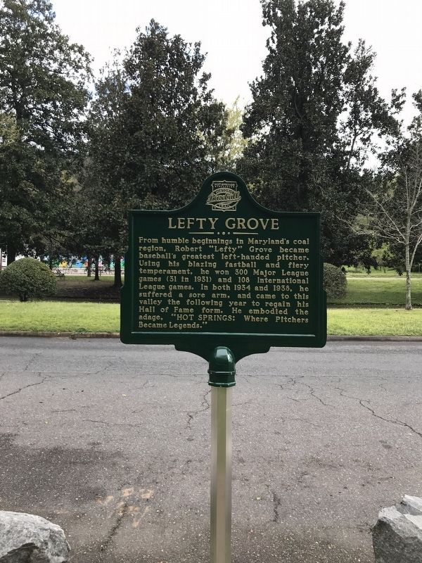 Lefty Grove Marker image. Click for full size.