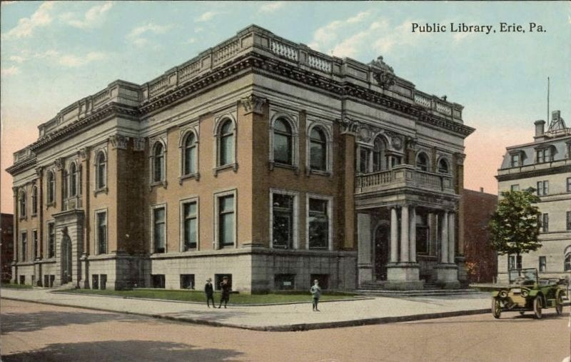 <i>Public Library, Erie, Pa.</i> image. Click for full size.