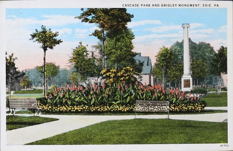 <i>Cascade Park and Gridley Monument, Erie, Pa.</i> image. Click for full size.