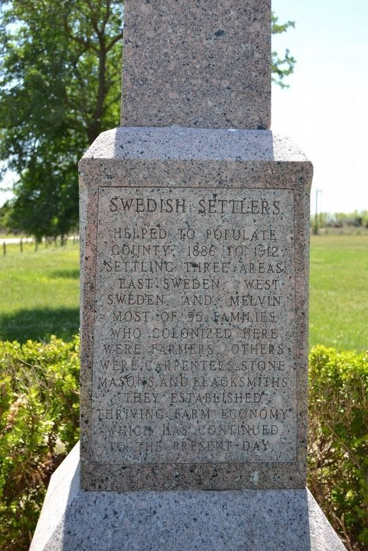 Swedish Settlers Marker image. Click for full size.