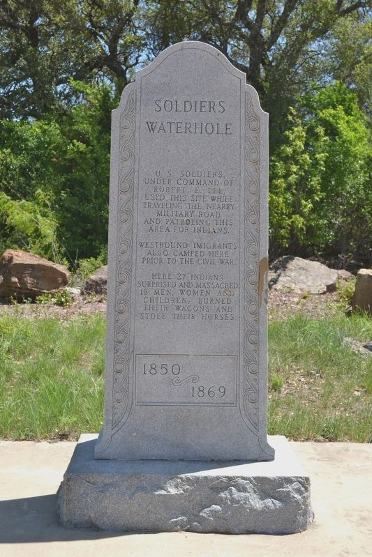 Soldiers Waterhole Marker image. Click for full size.