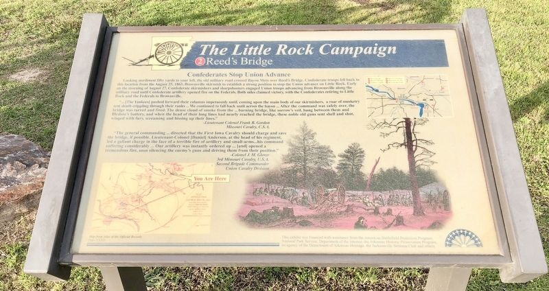 The Little Rock Campaign - Reed's Bridge Marker image. Click for full size.