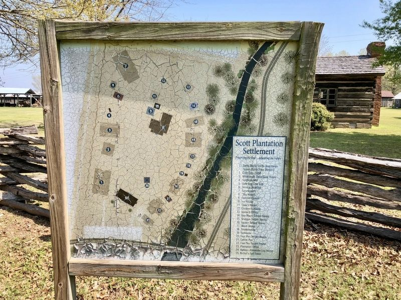 Map of the Scott Plantation Settlement. image. Click for full size.