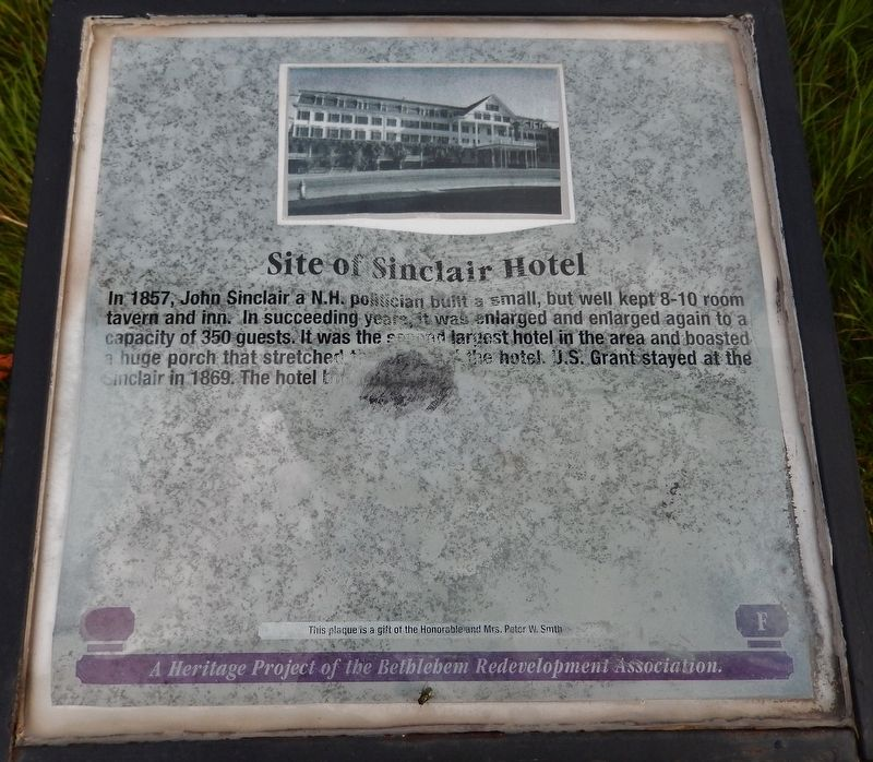Site of Sinclair Hotel Marker image. Click for full size.