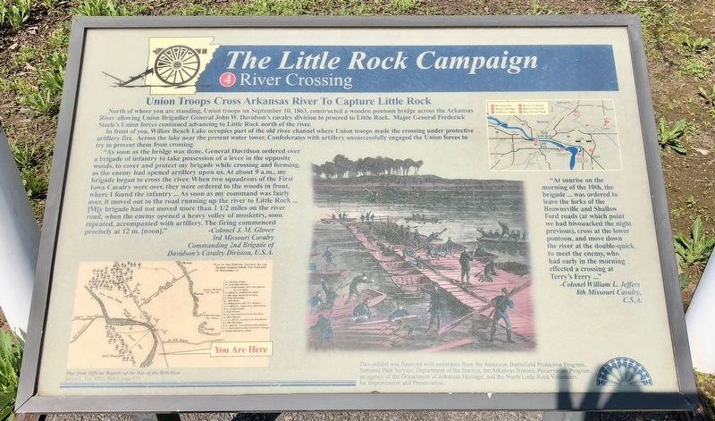 The Little Rock Campaign - River Crossing Marker image. Click for full size.