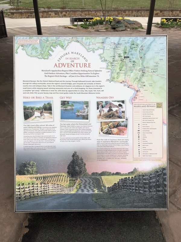 Explore Maryland In Search of Adventure Marker image. Click for full size.