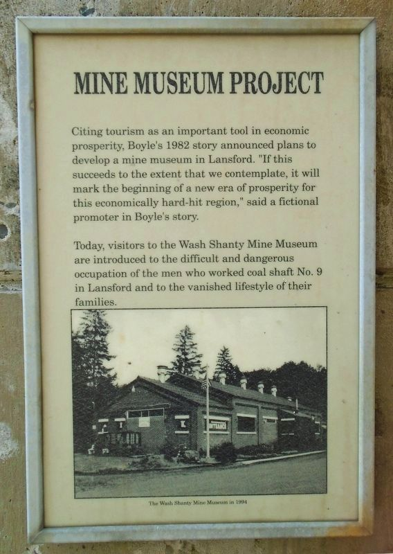 Joe Boyle Plaza - Mine Museum Project Marker image. Click for full size.