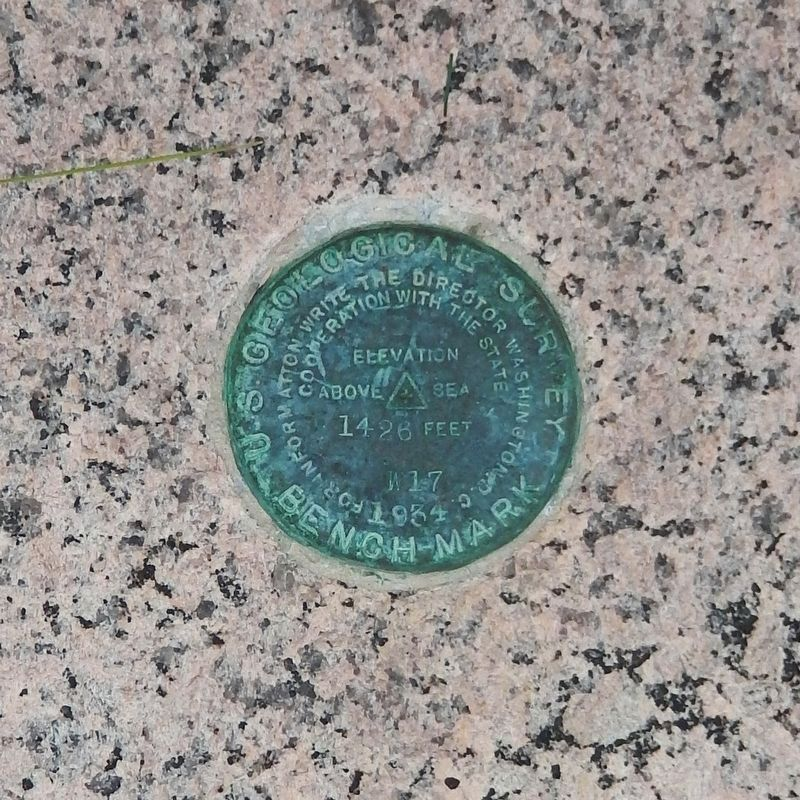 USGS Benchmark on Town Building front step - establishes elevation as 1426 feet image. Click for full size.