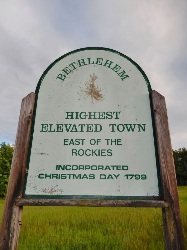 Bethlehem Town Sign - Highest Elevated Town East of the Rockies - 1426 feet image. Click for full size.