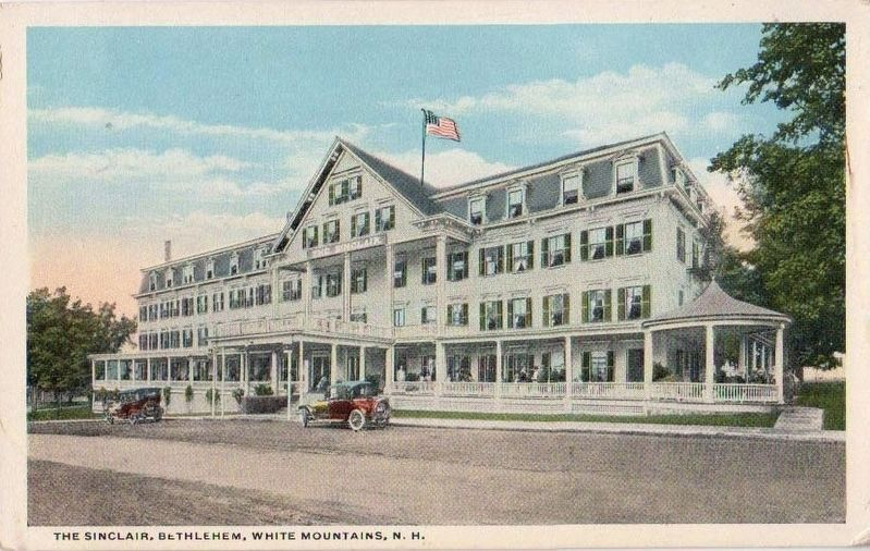 <i>The Sinclair, Bethlehem, White Mountains, N.H.</i> image. Click for full size.