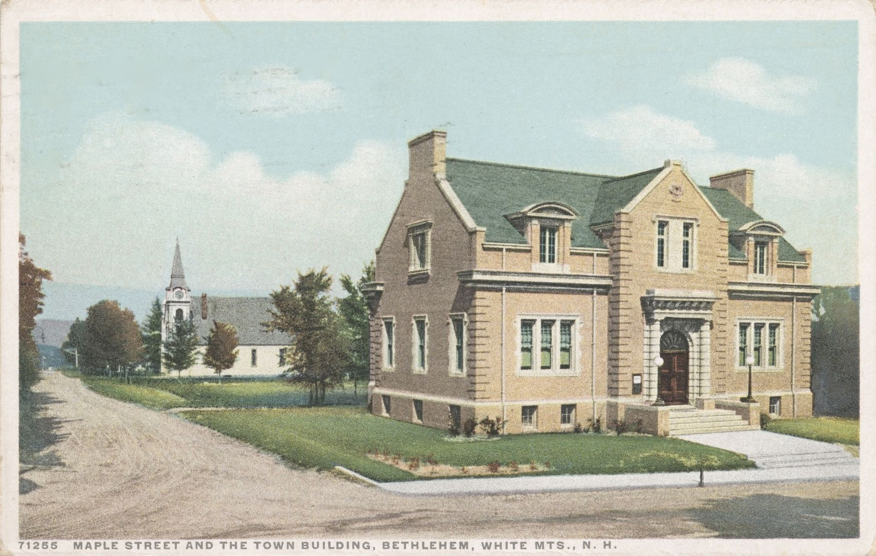 <i>Maple Street and the Town Building, Bethlehem, White Mts., N.H.</i> image. Click for full size.
