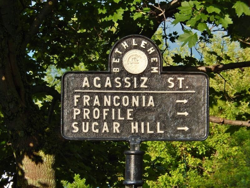 Agassiz Street Sign (<i>antique street sign at intersection and former hotel site</i>) image. Click for full size.