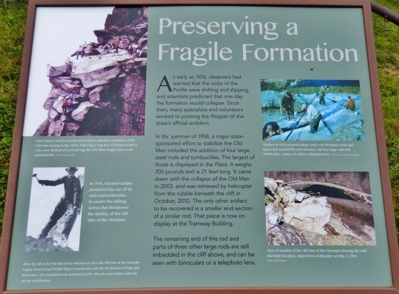 Preserving a Fragile Formation Marker image. Click for full size.