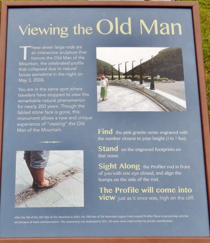 Viewing the Old Man Marker image. Click for full size.
