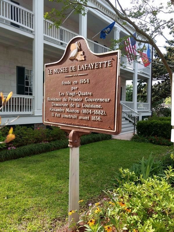 French side of Lafayette Museum Marker image. Click for full size.