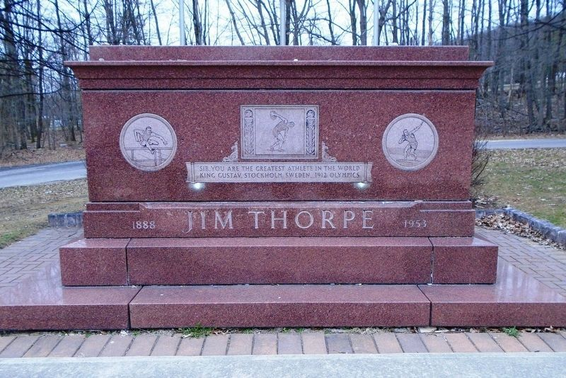 Jim Thorpe (Wa-tho-huck) Memorial Mausoleum image. Click for full size.