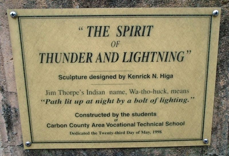 """The Spirit of Thunder and Lightning"" Marker image. Click for full size."