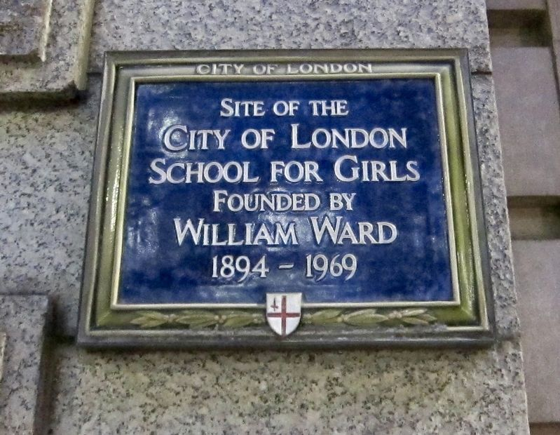 City of London School for Girls Marker image. Click for full size.