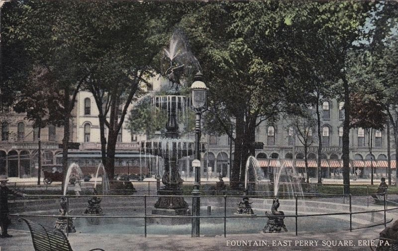 <i>Fountain, East Perry Square, Erie, Pa.</i> image. Click for full size.