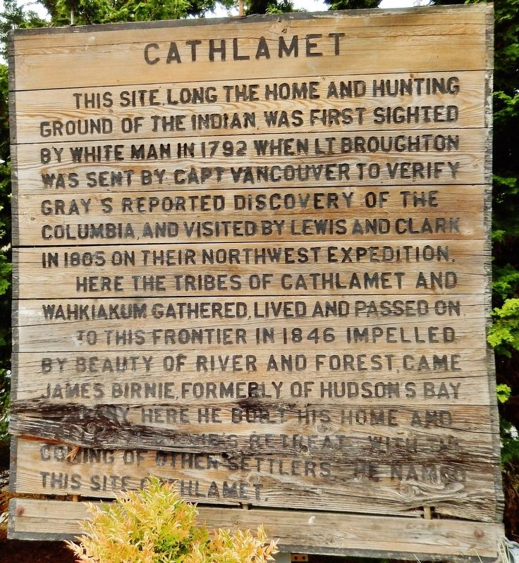 Cathlamet Marker image. Click for full size.
