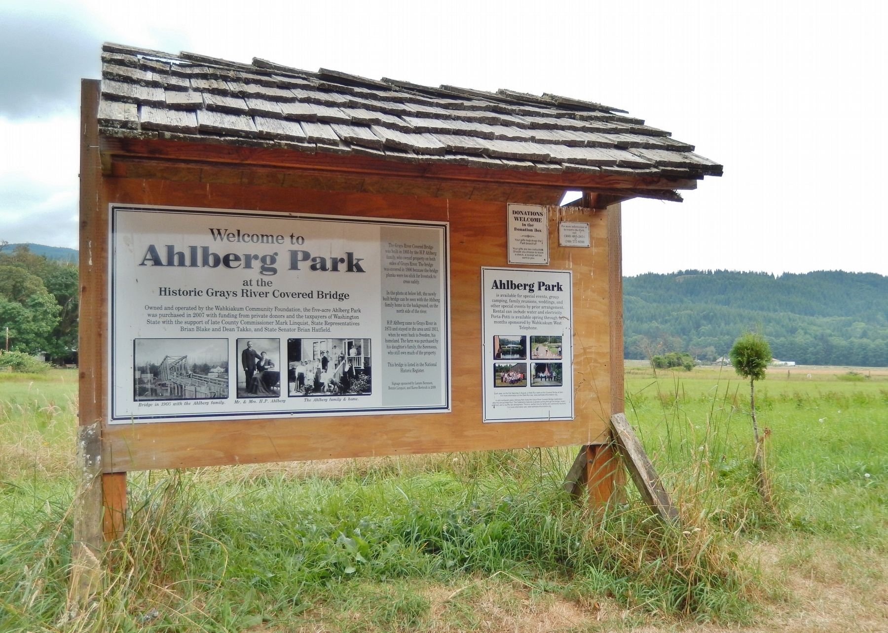 Ahlberg Park Marker (<i>wide view</i>) image. Click for full size.