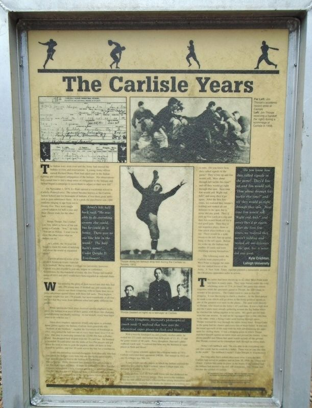 The Carlisle Years Marker image. Click for full size.