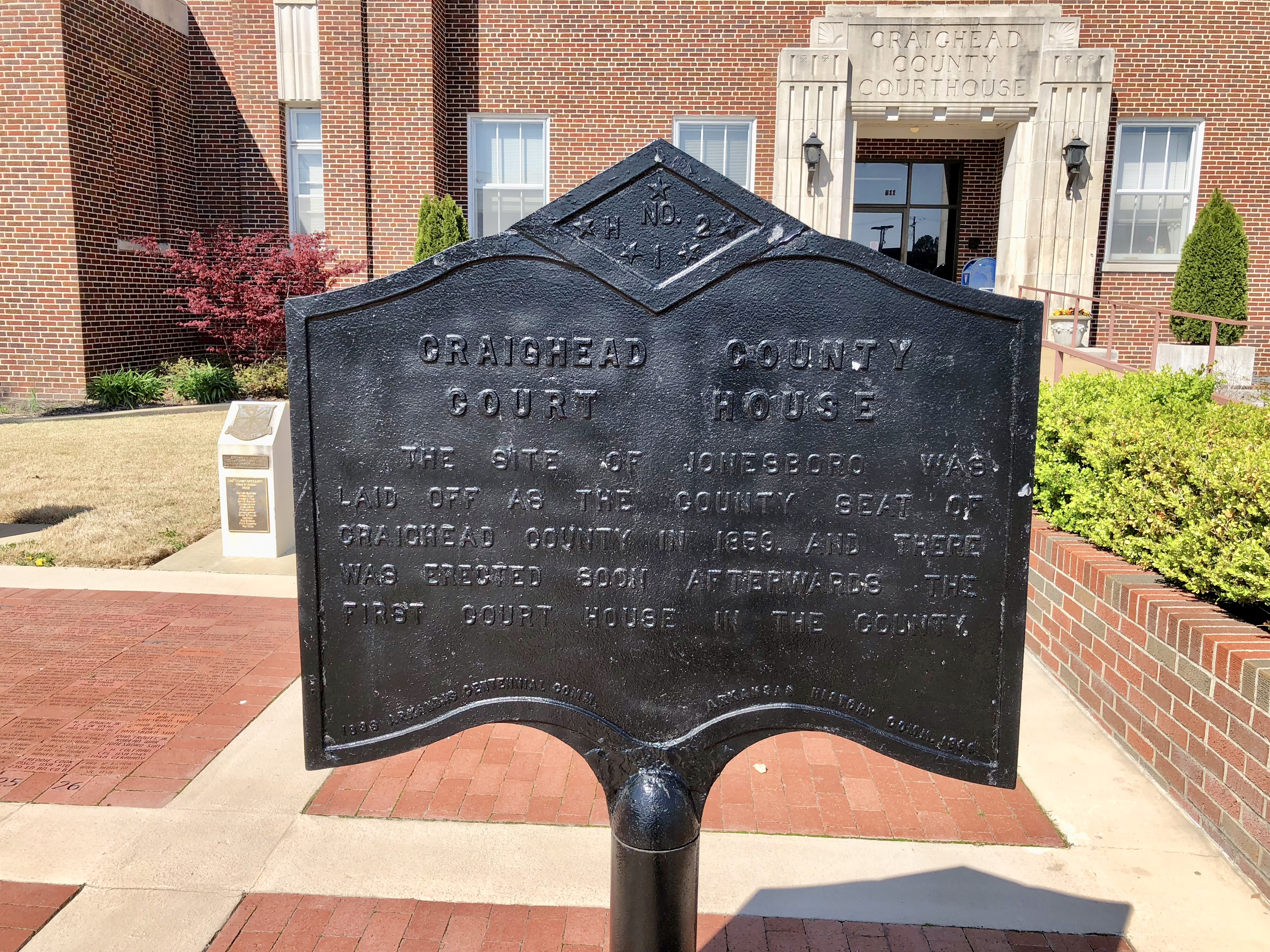 Craighead County Court House Marker